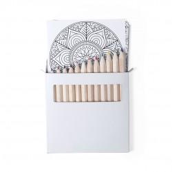 lápices y láminas para colorear con diseños mandala