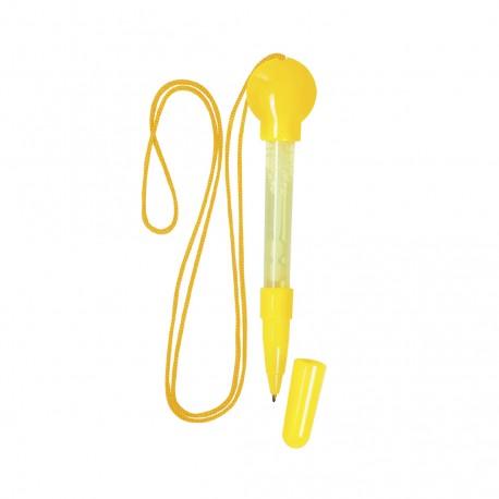 Bolígrafo Pump Amarillo