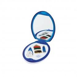 Espejo Costura Lira Azul