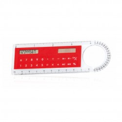 Regla Calculadora Mensor Rojo