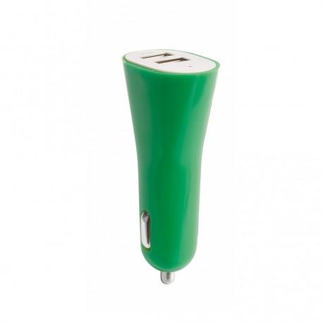 Cargador Coche USB Heyon Verde