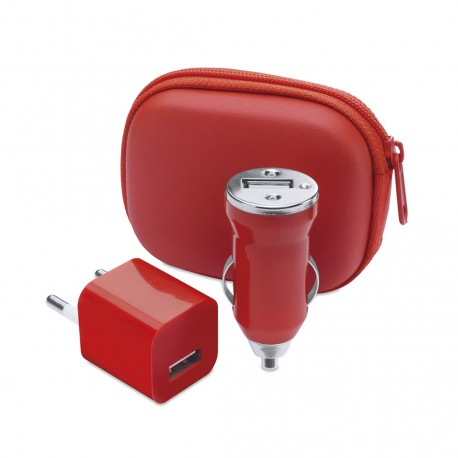 Set Cargadores USB Canox Rojo