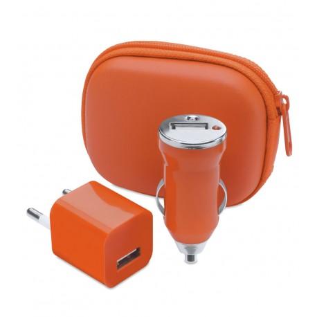 Set Cargadores USB Canox Naranja