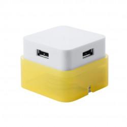 Puerto USB Dix Amarillo
