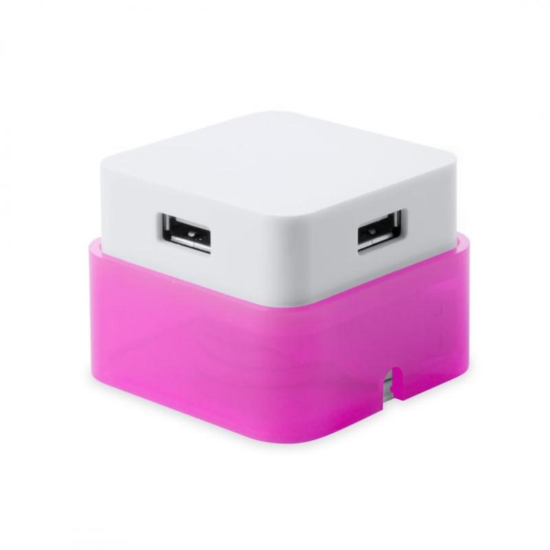 Puerto USB Dix Fucsia
