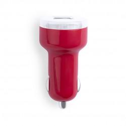 Cargador Coche USB Denom Rojo