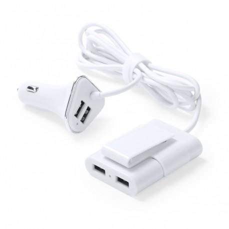 Cargador Coche USB Yofren Blanco