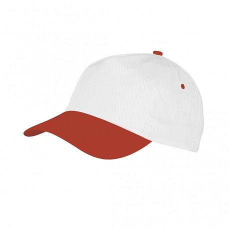 Gorra Sport Blanco/Rojo