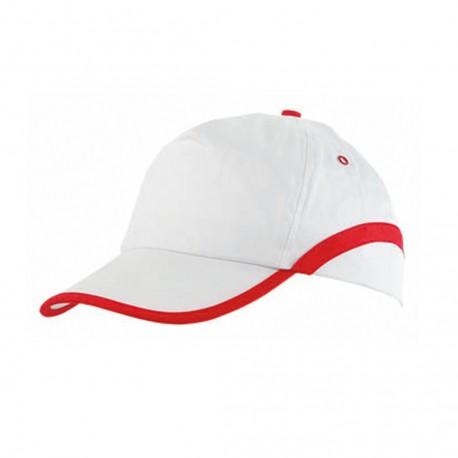 Gorra Line Blanco/Rojo