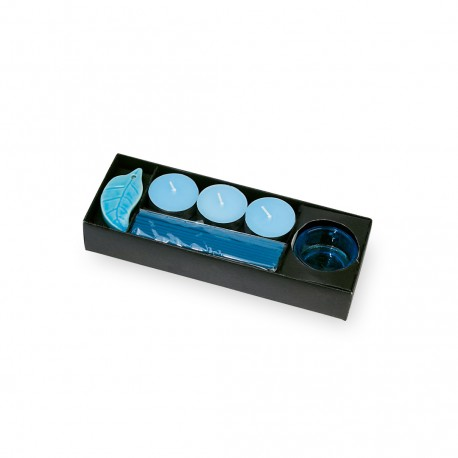 Set Velas Incienso Azul