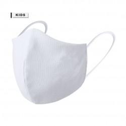 Mascarilla higienica niño reutilizable para personalizar blanca