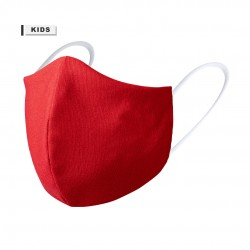Mascarilla higienica niño reutilizable para personalizar roja