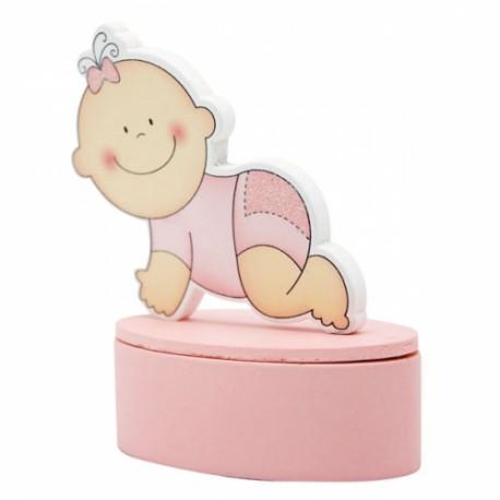 Cajita Bebe Rosa