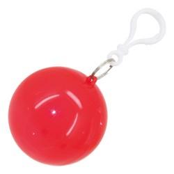 Poncho Lluvia Plegable Rojo