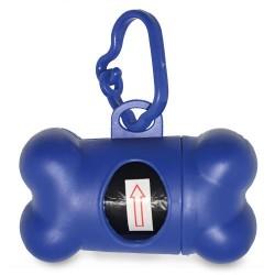 Portabolsas Forma Hueso Azul