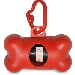 Portabolsas Forma Hueso Rojo
