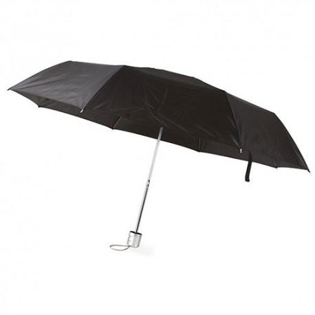 Paraguas Plegable Cromo Negro