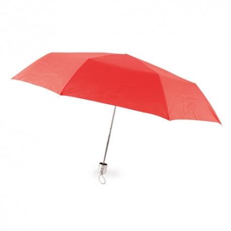 Paraguas Plegable Cromo Rojo