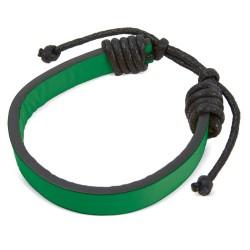 Pulsera Polipiel Ajustable Verde