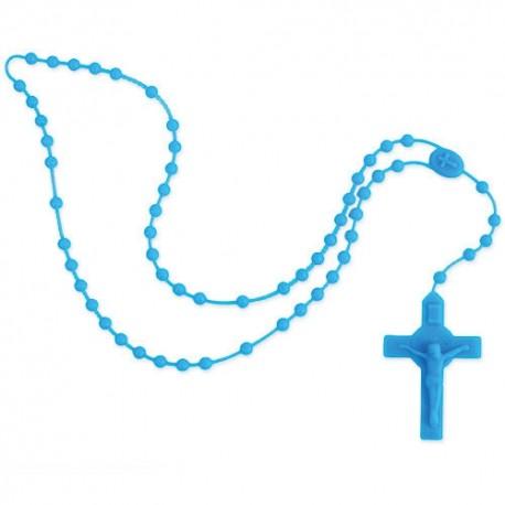 Rosario Silicona Azul