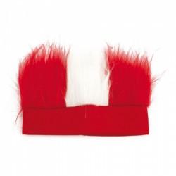 Gorro Plumas Rojo