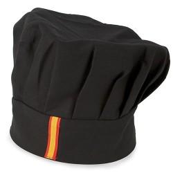 Gorro Cocinero Bandera Negro