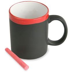 Mug De Ceramica Pizarra Roja