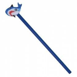 Lapiz Madera Tiburon Azul