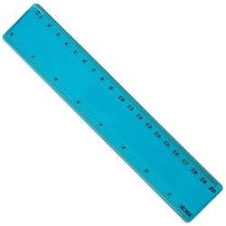 Regla Flexible 20 Cm Azul