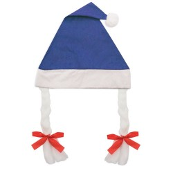 Gorro De Navidad Con Trenzas