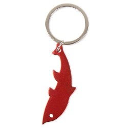 Llavero Aluminio Delfin Rojo