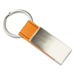 Llavero Metalico Piel Naranja