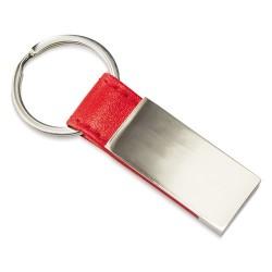 Llavero Metalico Piel Rojo