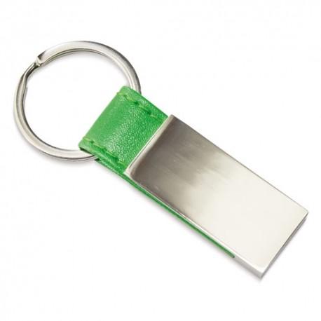 Llavero Metalico Piel Verde