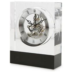 Reloj Cristal Banda Negra