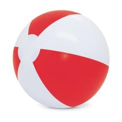 Balon De Playa Blanco/Rojo