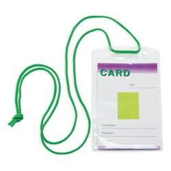 Identificador Con Cordon Verde