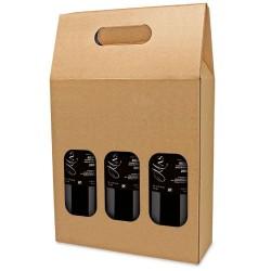 Caja Carton Ventana 3 Botellas