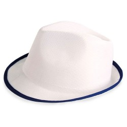 Sombrero Premium Blanco Ribete Az
