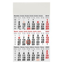 Calendario Trimestral De Pared
