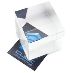 Cristal Cuadrado Efecto Vista Lateral