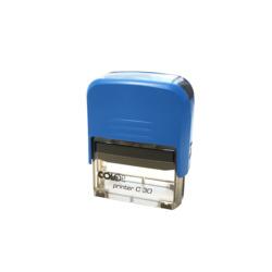 Sello de Caucho Completo Entintado Automático Azul
