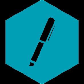 Bolígrafos con marcador