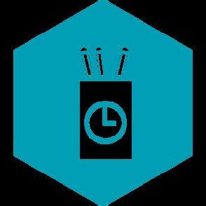Portalápices con reloj