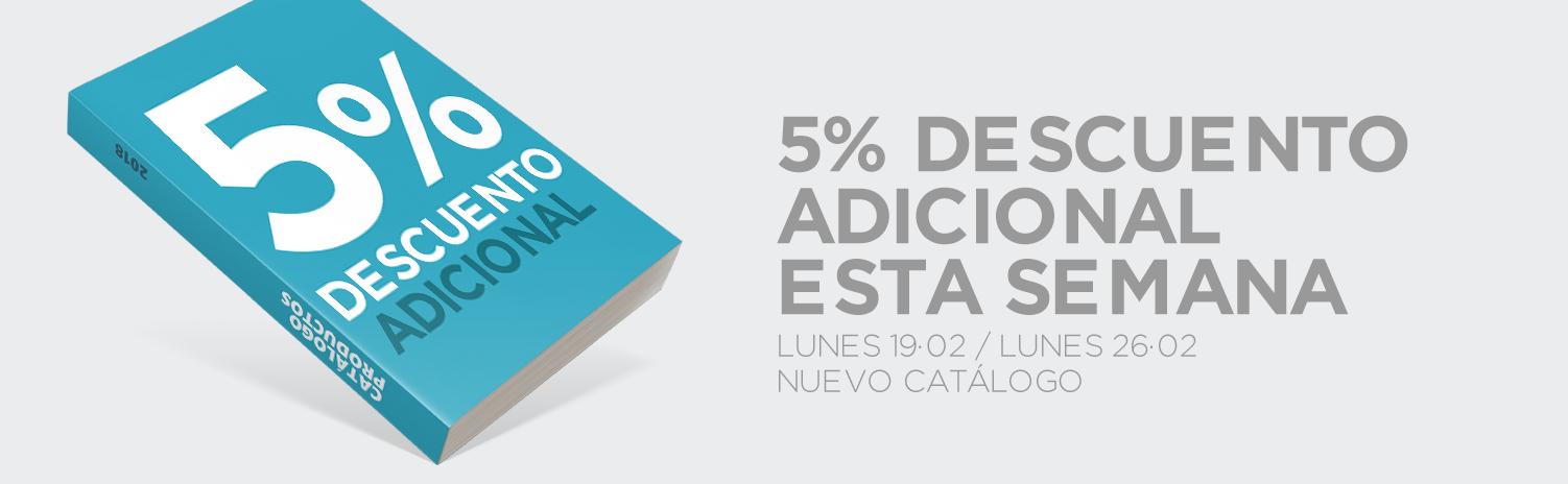 Descuento adicional 5% nuevo catalogo